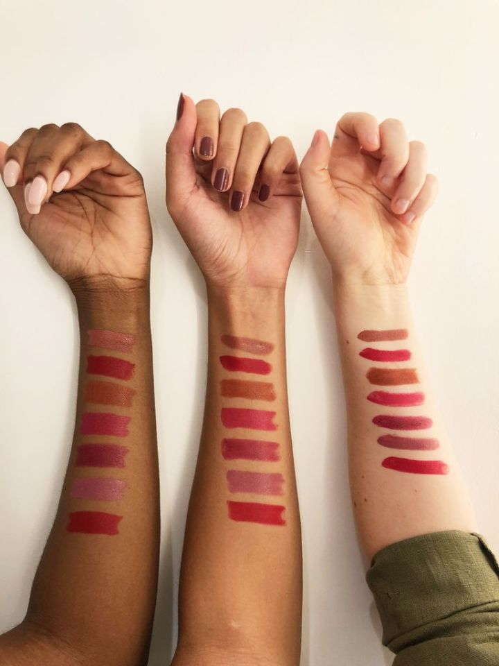 maybelline color sensational 'made for all' lipstick swatches on dark skin